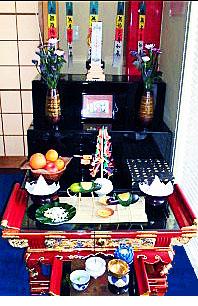 お盆の祭壇